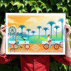Art Print Easy Rider USA - California