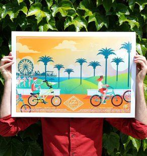 Art Print Easy Rider USA - California