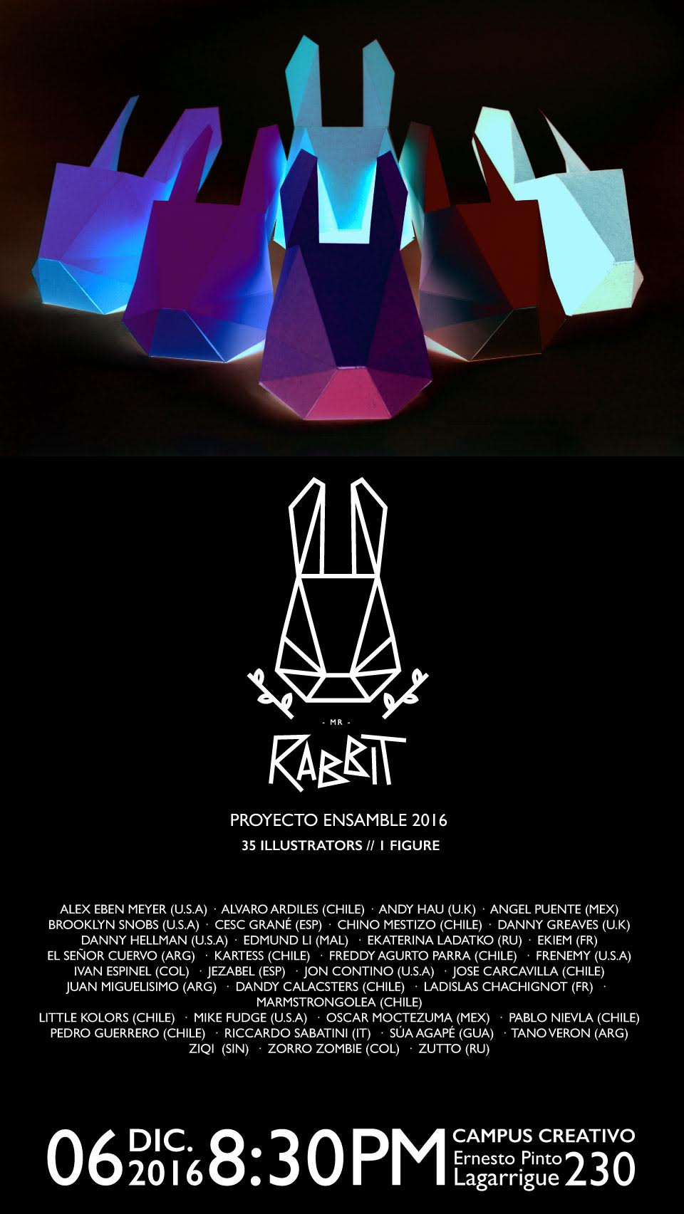 exhibition Mr Rabbit - illustration -Proyecto Ensamble 2016