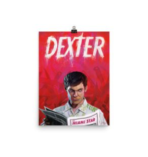 Dexter Alternative Poster Illustration / Fine Art Print / Open edition