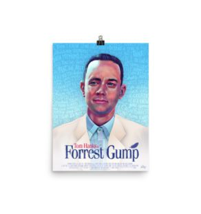 Forrest Gump Alternative Movie Poster illustration