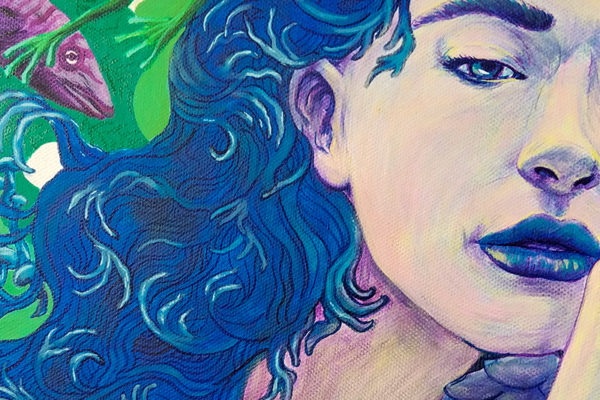 painting work in progress - Ladislas chachignot -acrylic on canvas - adobe create magazine - studio Sunday