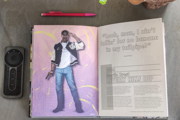When we were young - Art book Ladislas - Beverly Hills Cop double page